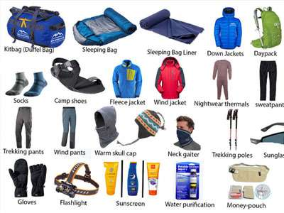 Nepal Trek Packing List
