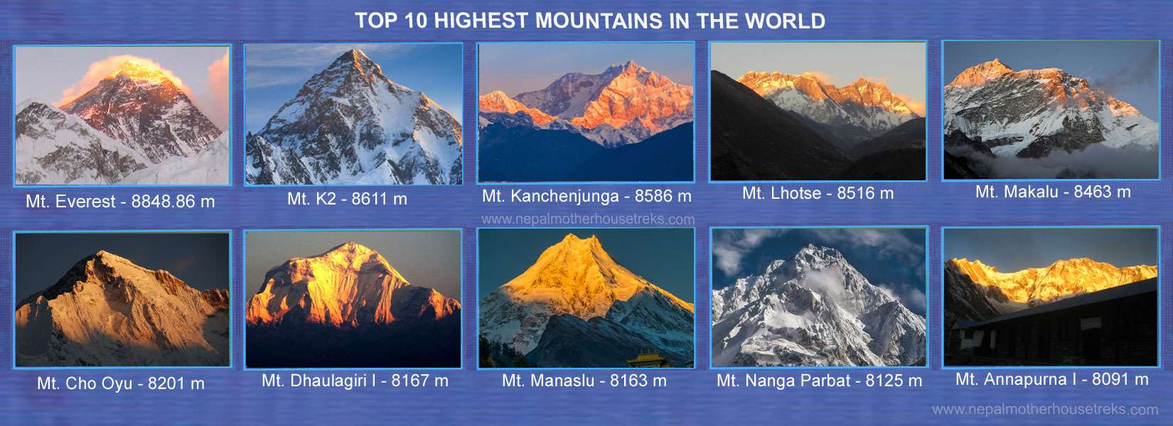 10 Highest Mountain in the World
