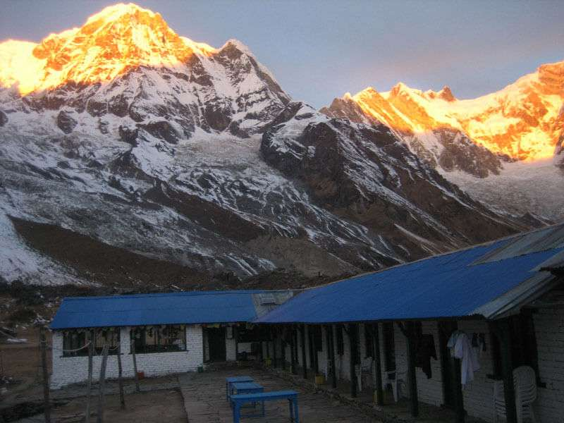 Sunset View from Annapurna Base Camp