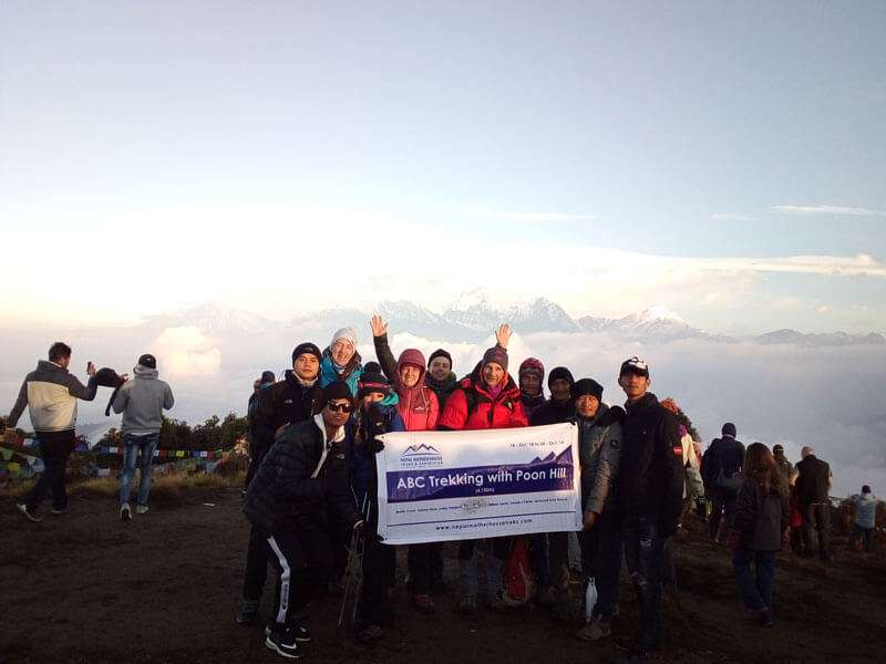 Group at Poon Hill (3,210m)