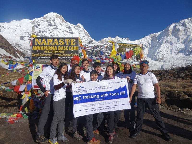 Enjoing at Annapurna Base Camp (4,130m)