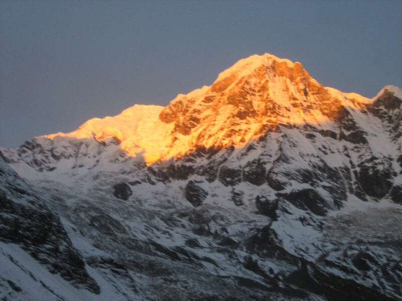 Annapurna During Sunset